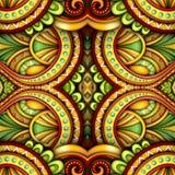 Modèle sans couture coloré de tuile, kaléidoscope fantastique illustration stock