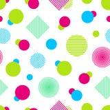 Modèle sans couture coloré de vecteur Fond abstrait dans des couleurs lumineuses Formes géométriques colorées Texture répétée mod Illustration Stock