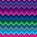 Modèle sans couture coloré de zigzag illustration libre de droits