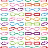 Modèle sans couture coloré en verre et de lunettes de soleil Images stock