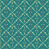Modèle sans couture coloré ethnique avec des flèches Main Image stock