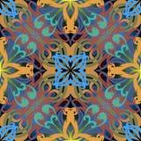 Modèle sans couture coloré floral arabe Arabe d'ornamental de vecteur illustration stock
