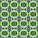 Modèle sans couture coloré lumineux de fond géométrique de pixels verts Image stock