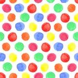 Modèle sans couture coloré par aquarelle de point de polka Bébé Image libre de droits