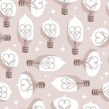 Modèle sans couture coloré par vintage d'ampoules illustration stock
