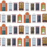 Modèle sans couture coloré plat de Windows Image libre de droits