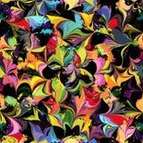 Modèle sans couture coloré souillé par grunge illustration de vecteur