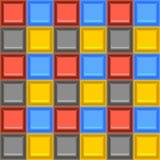 Modèle sans couture coloré vibrant carré de vecteur de tuile mozaic en verre Photo stock