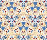 Modèle sans couture composé d'éléments d'abrégé sur couleur placés sur le fond blanc Photos libres de droits