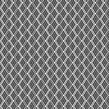 Modèle sans couture croisé onduleux 3D de rayures Texture abstraite de mode de vecteur Calibre monochrome géométrique Style graph Images libres de droits
