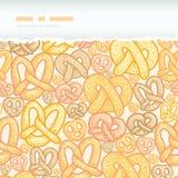 Modèle sans couture déchiré horizontal de bretzels Image stock
