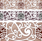 Modèle sans couture dénommé maori Photo stock