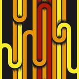 Modèle sans couture dépouillé par géométrie abstraite avec des courbes Vecteur illustration de vecteur