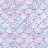 Modèle sans couture d'échelles de poissons de scintillement Texture de queue de sirène Illustration de vecteur illustration de vecteur