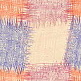 Modèle sans couture d'édredon barré et à carreaux de grunge coloré Photo stock