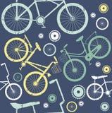 Modèle sans couture d'éléments de vélo de vintage Photos libres de droits
