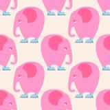 Modèle sans couture d'éléphant rose Fond d'animal de cirque avec Photo libre de droits