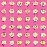 Modèle sans couture d'émotions du ` s d'enfants, illustration libre de droits