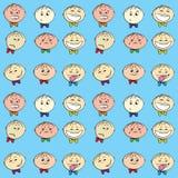 Modèle sans couture d'émotions du ` s d'enfants, illustration stock