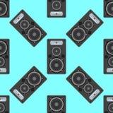 Modèle sans couture d'équipement musical de vecteur Images libres de droits