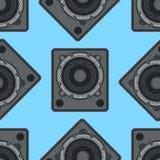 Modèle sans couture d'équipement musical de vecteur Image libre de droits