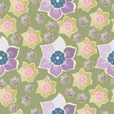 Modèle sans couture d'été avec des fleurs de ressort Photos stock