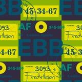 Modèle sans couture d'étiquette d'aéroport d'Entebbe illustration libre de droits