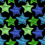 Modèle sans couture d'étoile Image libre de droits