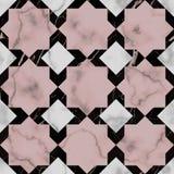 Modèle sans couture d'étoile de luxe de marbre illustration stock