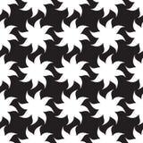 Modèle sans couture d'étoiles stylisées Éléments blancs sur le fond noir Images stock