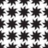 Modèle sans couture d'étoiles stylisées éléments noirs sur le fond blanc Photo stock