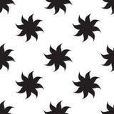 Modèle sans couture d'étoiles stylisées éléments noirs sur le fond blanc Photographie stock