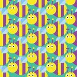 Modèle sans couture d'abeille Photos libres de droits