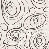 Modèle sans couture d'abrégé sur vecteur des cercles courbés Photographie stock