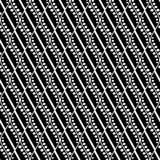 Modèle sans couture d'abrégé sur vecteur Fond de répétition symétrique géométrique dans des couleurs noires et blanches Photos stock