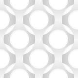 Modèle sans couture d'abrégé sur vecteur Formes s'entrelaçantes Images stock