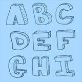 Modèle sans couture d'alphabet anglais Images stock