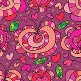 Modèle sans couture d'amour de fruit Image libre de droits