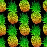 Modèle sans couture d'ananas Image libre de droits