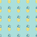 Modèle sans couture d'ananas Photos stock