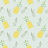 Modèle sans couture d'ananas Photographie stock