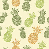 Modèle sans couture d'ananas de vecteur illustration stock