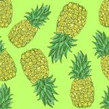 Modèle sans couture d'ananas de vecteur illustration de vecteur