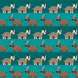 Modèle sans couture d'animaux africains Photos stock