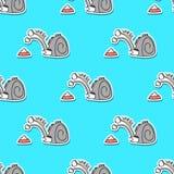 Modèle sans couture d'animaux de vecteur mignon de griffonnage illustration stock