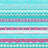 Modèle sans couture d'appartenance ethnique Style de Boho Papier peint ethnique Copie tribale d'art Le vieux résumé encadre la te Photos stock