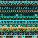 Modèle sans couture d'appartenance ethnique Style de Boho Papier peint ethnique Copie tribale d'art Le vieux résumé encadre la te Photo stock
