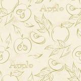 Modèle sans couture d'Apple Images stock