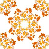Modèle sans couture d'aquarelle avec des fleurs d'orchidée photos libres de droits