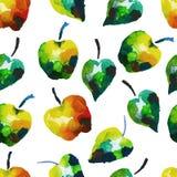Modèle sans couture d'aquarelle avec des pommes Photographie stock libre de droits